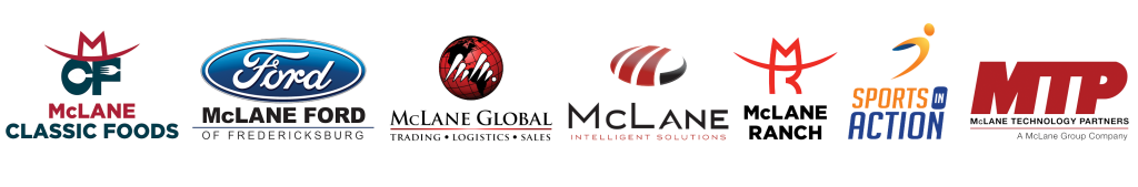 Seven logos from the McLane Group family of businesses